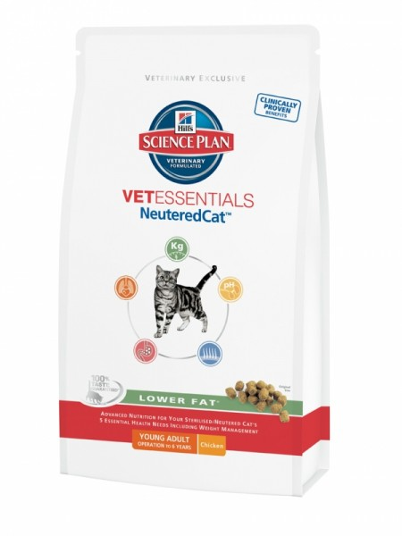 Hill´s VetEssentials Feline NeuteredCat Young Adult 1,5 kg Lower Fat