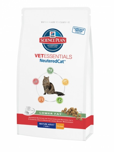 Hill´s VetEssentials Feline NeuteredCat Mature Adult 1,5 kg Lower Fat
