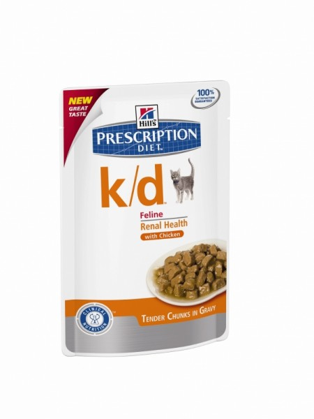 Hill´s Prescription Diet Feline k/d mit Huhn 48 x 85g Pouches